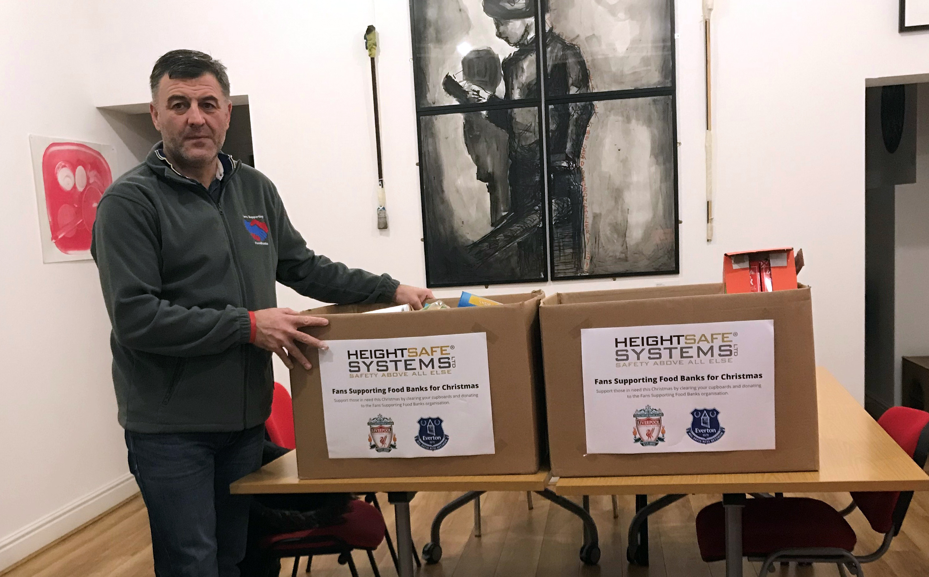 Heightsafe Systems Support Local Initiative – Fans Supporting Foodbanks
