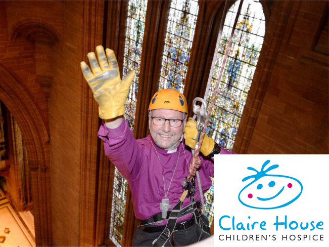Priest attached to Rope Access System