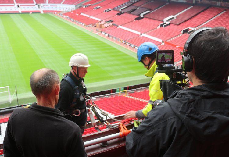 Work at Height training at Old Trafford Football Stadium