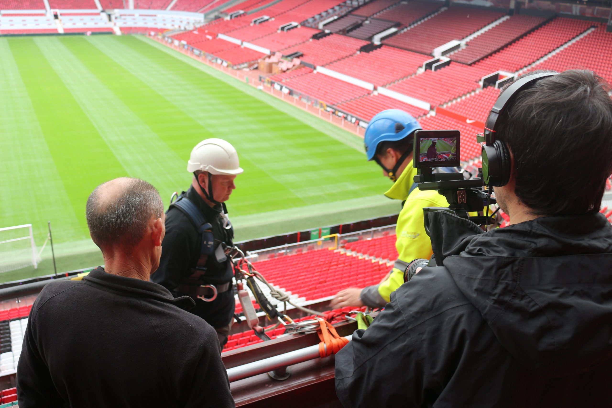 Work at Height training at Old Trafford Football Stadium