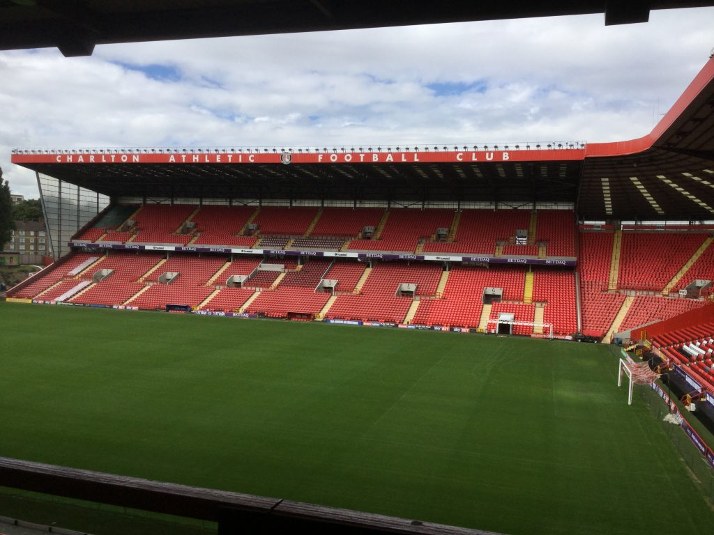 Heightsafe at Charlton Athletic full view of the ground