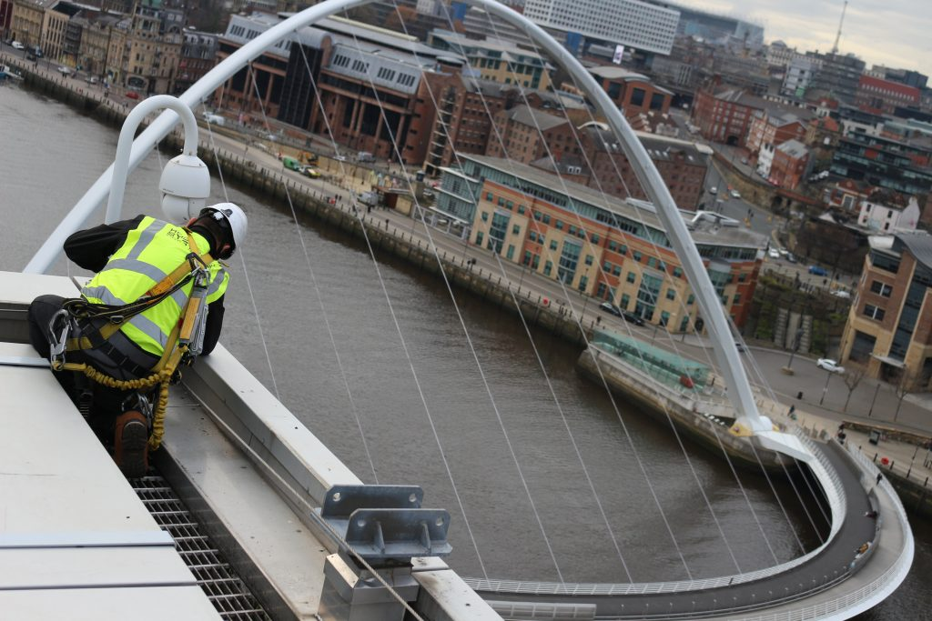 Heightsafe Anchor points install at Wembley