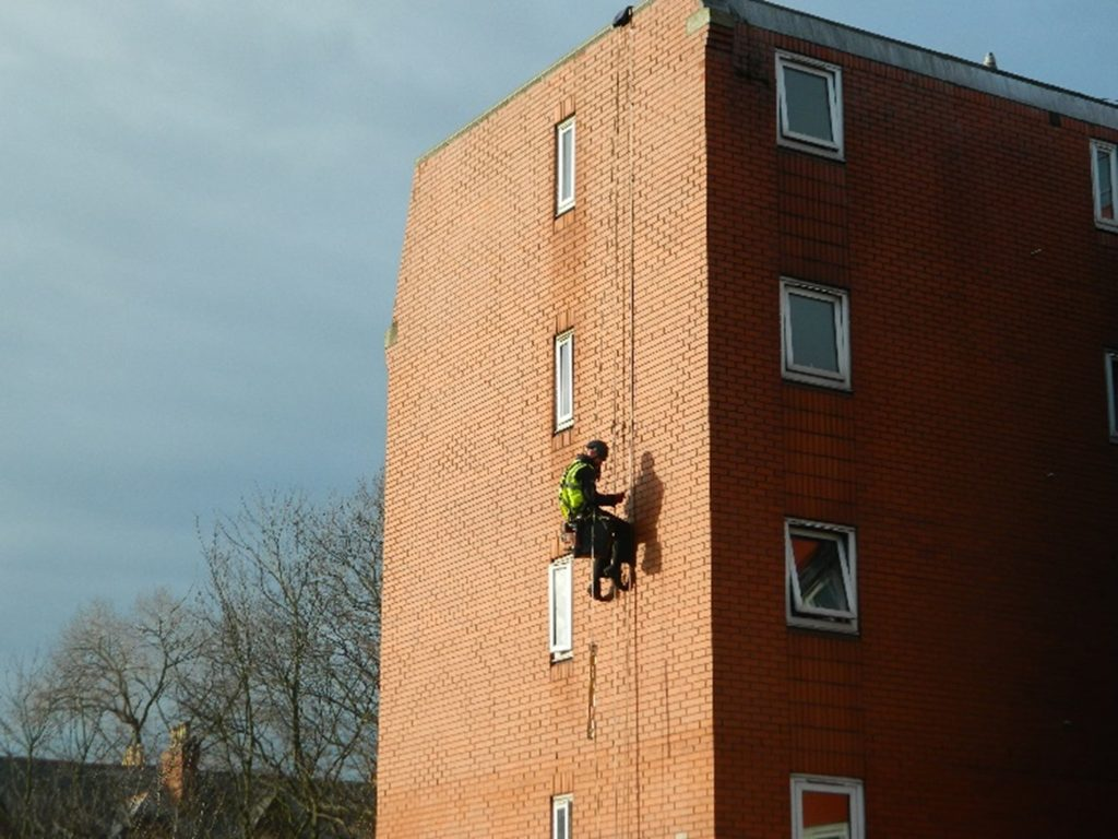 Lighting Protection System inspection heightsafe rope access facade access