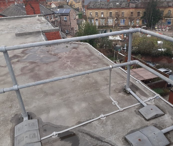 Lightning Protection system installed by heightsafe engineers on roof