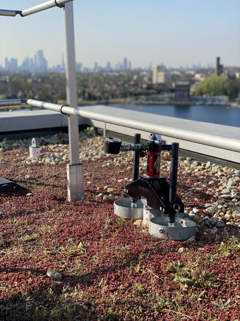 Heightsafe complete pull testing at Woodberry Down London as part of compliance package