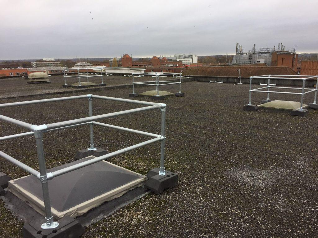 skylight guardrail protection