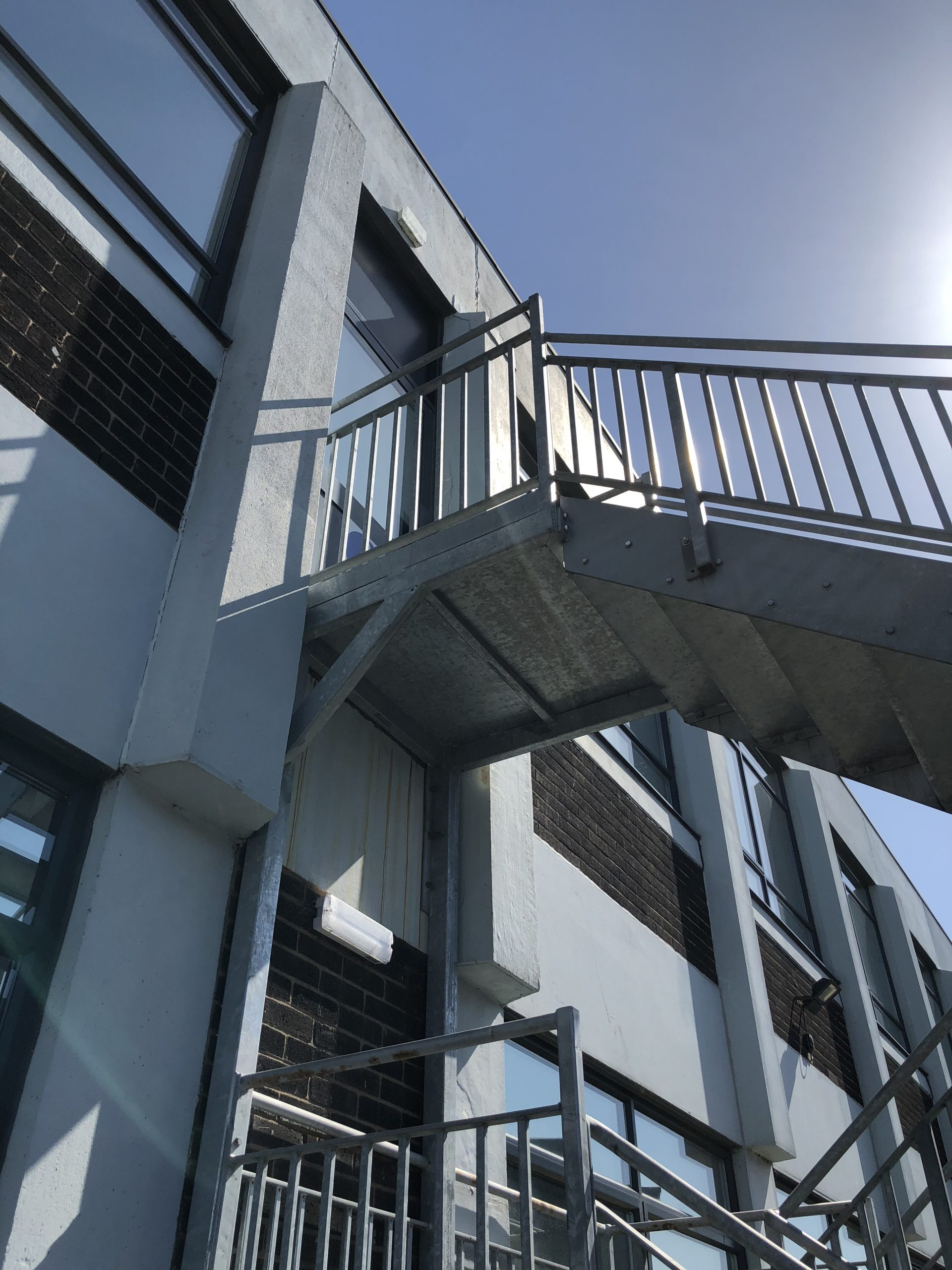 Example of Custom Fire Escape Staircase at Heightsafe