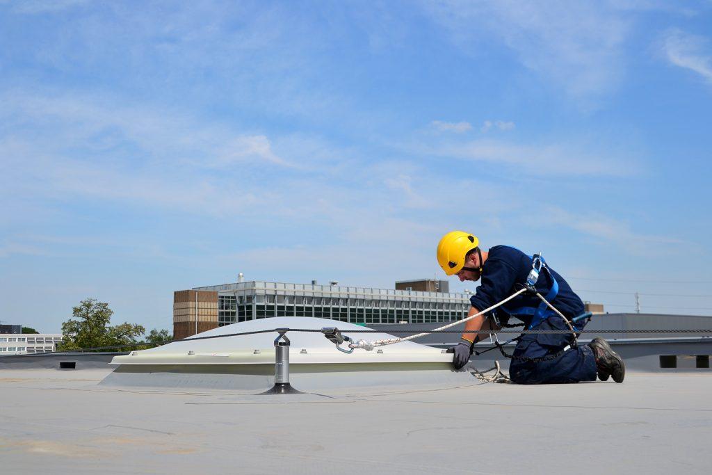 Work at height near skylight xs platforms