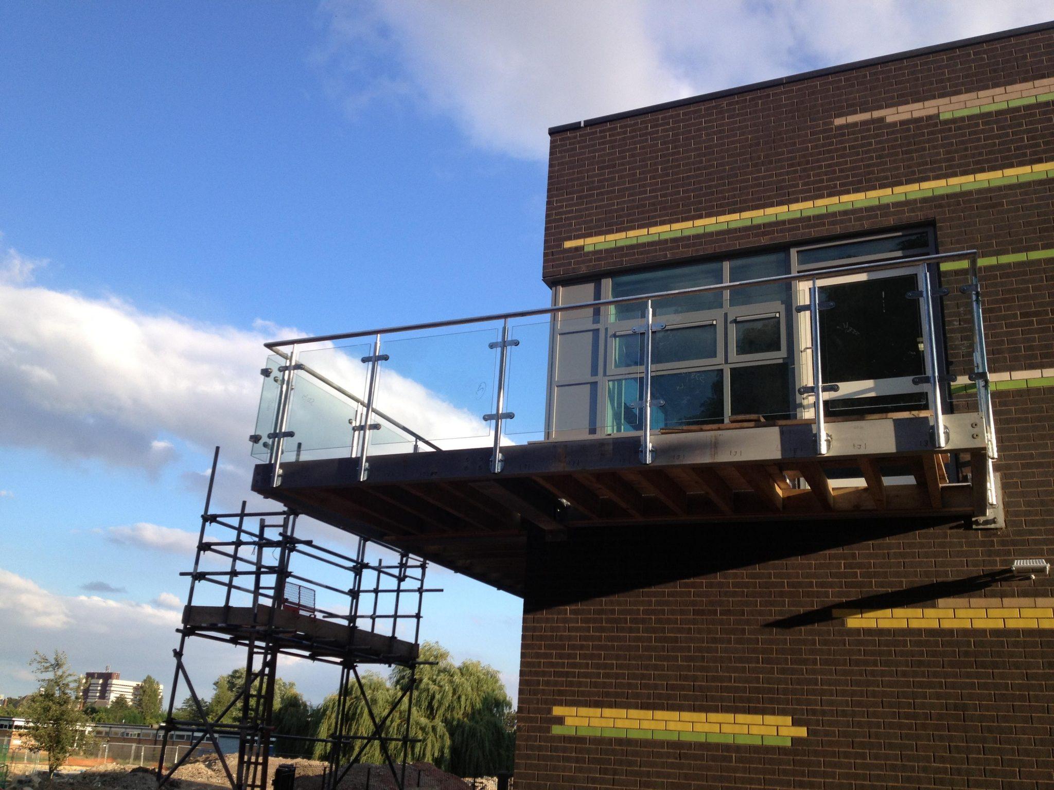 glass balustrade bespoke metal stone balustrade