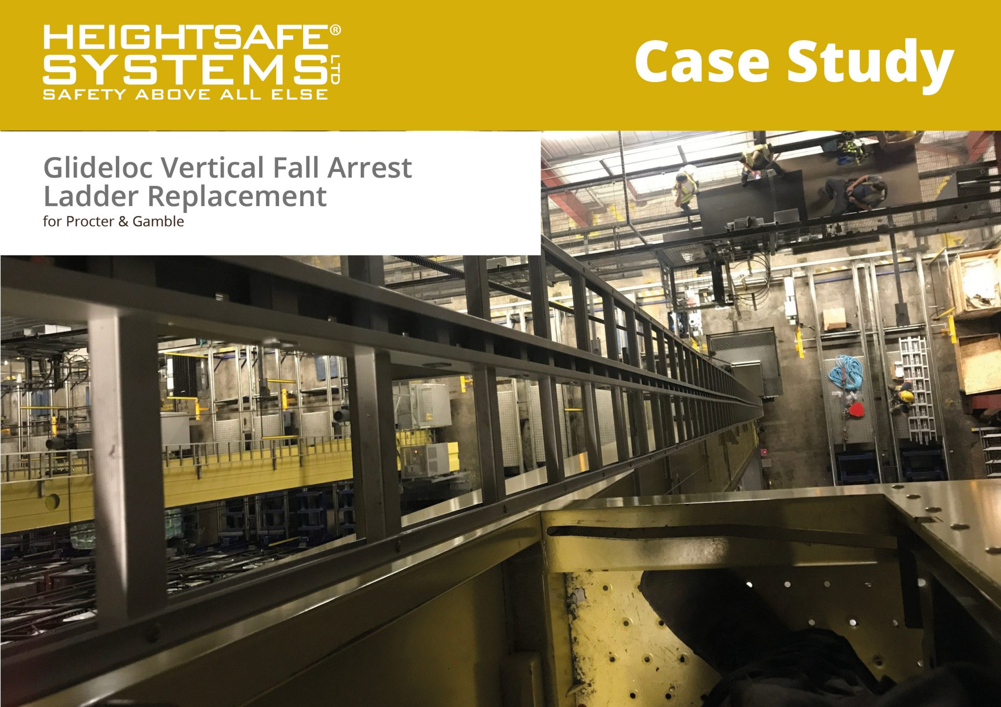 case study glideloc vertical fall arrest ladder replacement p g