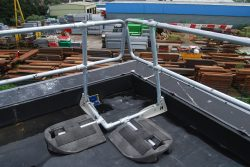 Folding Guardrail Corner