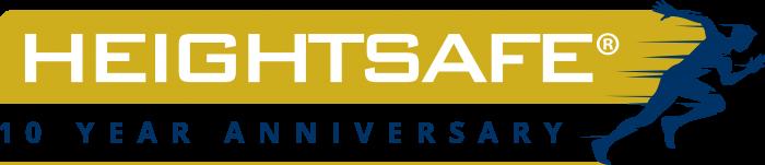 Heightsafe 10 Year Anniversary Logo