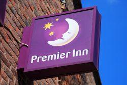Premier Inn Logo on Outdoor Sign