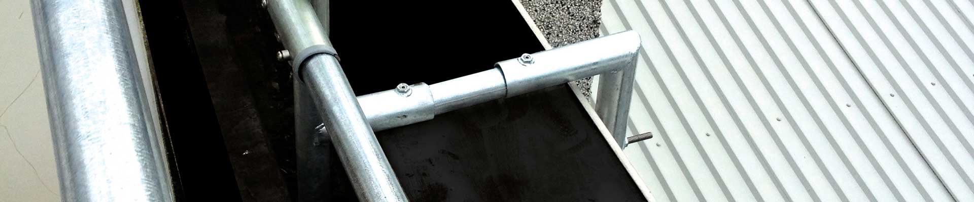 Fixed Parapet Handrail: Clamp, Top Fix, Side Fix & Rivet Fix